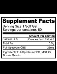 supplement fact sheet for softgels 1500