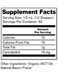 Supplement Fact Label