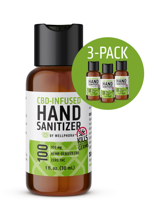 CBD-Infused Hand Sanitizer 3-pack image